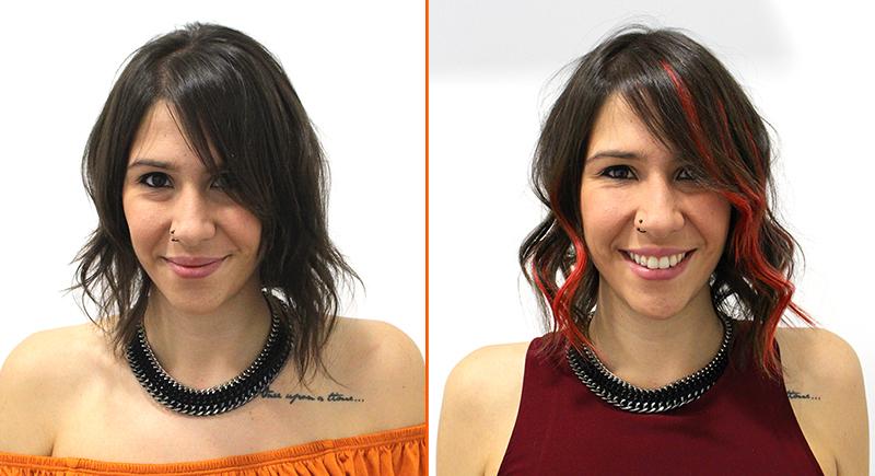 cambio look con extensiones adhesivas pelo natural