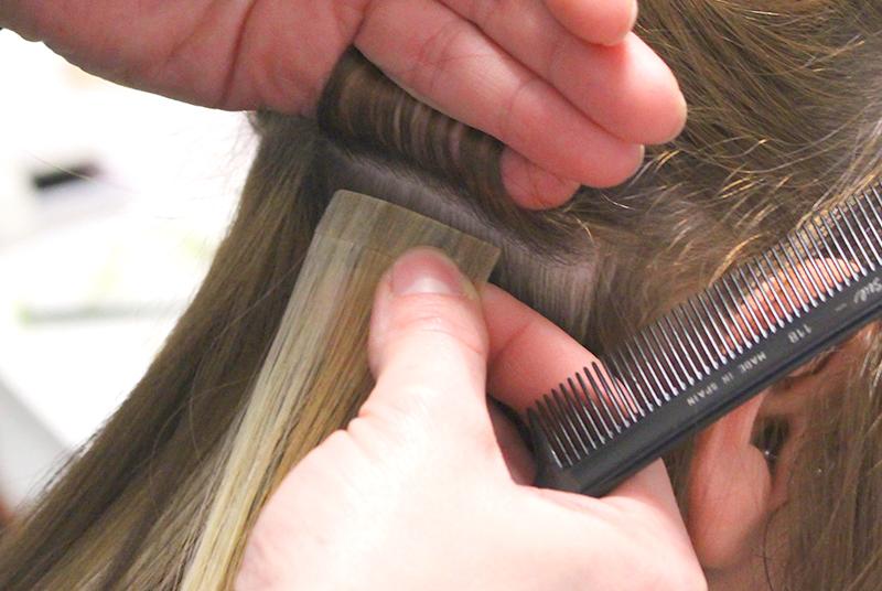 colocacion de extensiones de pelo es clave