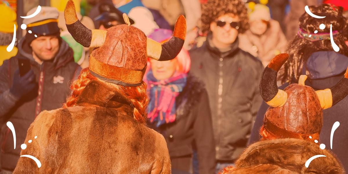 peinado carnaval vikinga