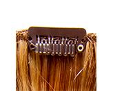 detalle extension de pelo clip
